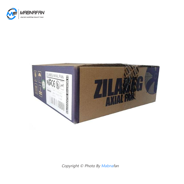هواکش صنعتی زیلابگ با کد 4D-400S تصویر از کارتن محصول